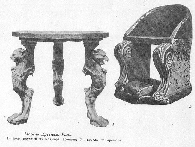 таких мебель в древнем риме картинки бывают случаи