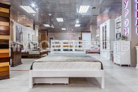 Здесь изображено Двуспальная кровать Морфей (белая эмаль)