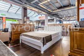 Здесь изображено Двуспальная кровать Готика Nice (белая эмаль)