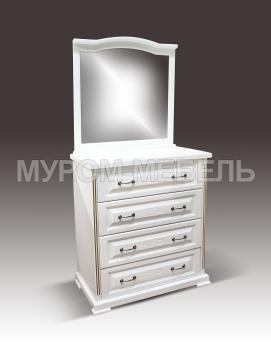 Здесь изображено Комод Сатори с зеркалом