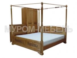 Здесь изображено Кровать Афина с балдахином  с ящиками