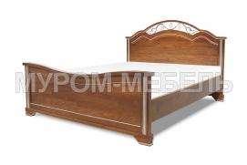 Здесь изображено Кровать Амелия с ковкой