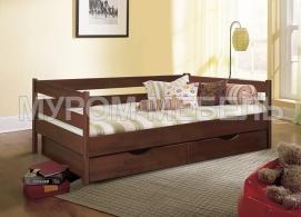 Здесь изображено Детская кровать Детская с ящиками 1