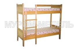 Здесь изображено Детская кровать двухъярусная Классика 3