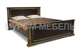 Здесь изображено Кровать Грета из дуба с ящиками