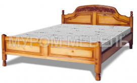 Здесь изображено Кровать Наполеон (резьба шапкой)