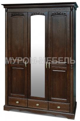 Здесь изображено Шкаф 3-х створчатый Валео
