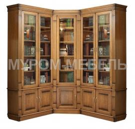 Здесь изображено Шкаф книжный угловой Флоренция 3