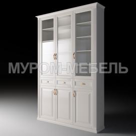 Здесь изображено Шкаф трехстворчатый с ящиками из серии
