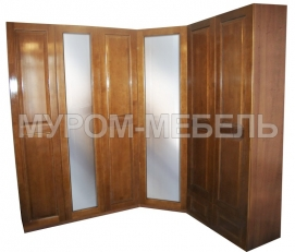 Здесь изображено Шкаф Кантата угловой с двумя зеркалами