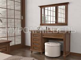 Здесь изображено Туалетный стол Мелиса 2 с зеркалом