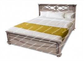 Здесь изображено Кровать Мелиса из дуба с ящиками