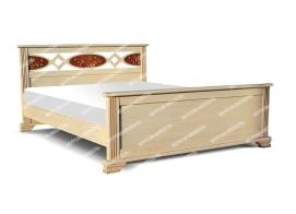 Здесь изображено Кровать Лирона из дуба с ящиками