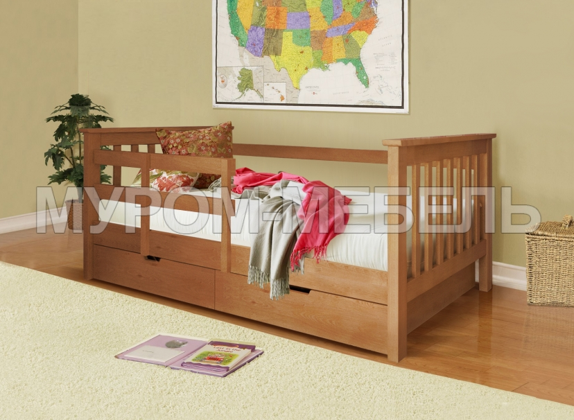 Здесь изображено Детская кровать Аристо