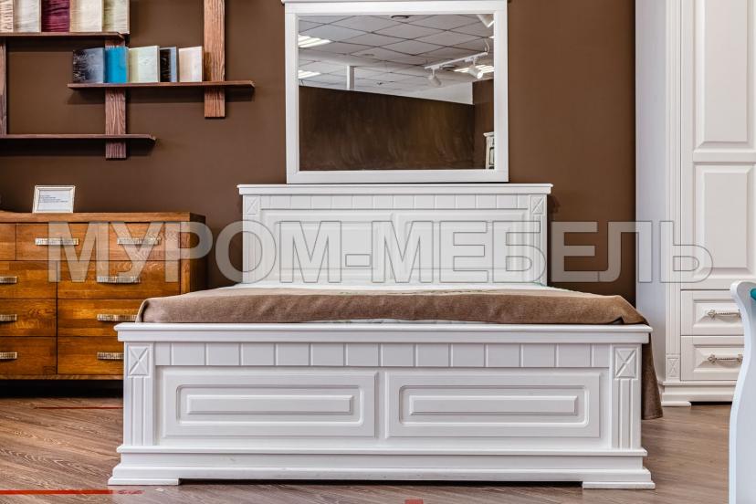 Здесь изображено Кровать Флоренция (белая эмаль)