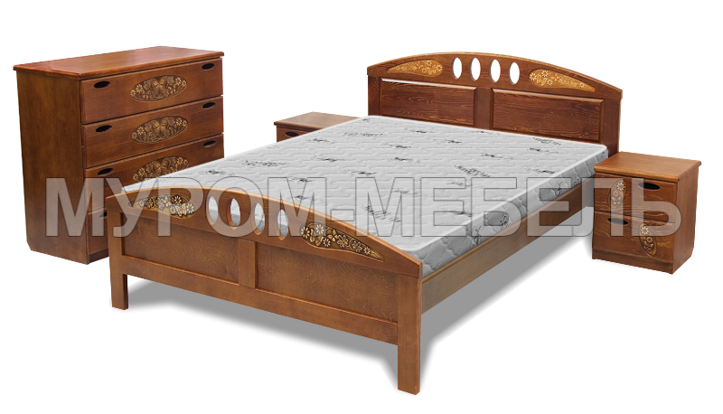 Здесь изображено Кровать Галатея (береза)