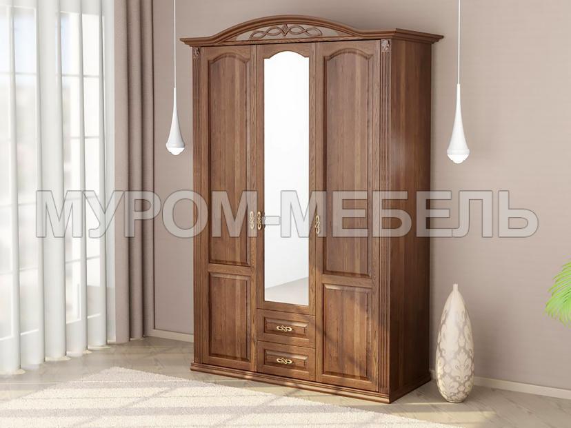 Здесь изображено Шкаф 3-х створчатый Камила