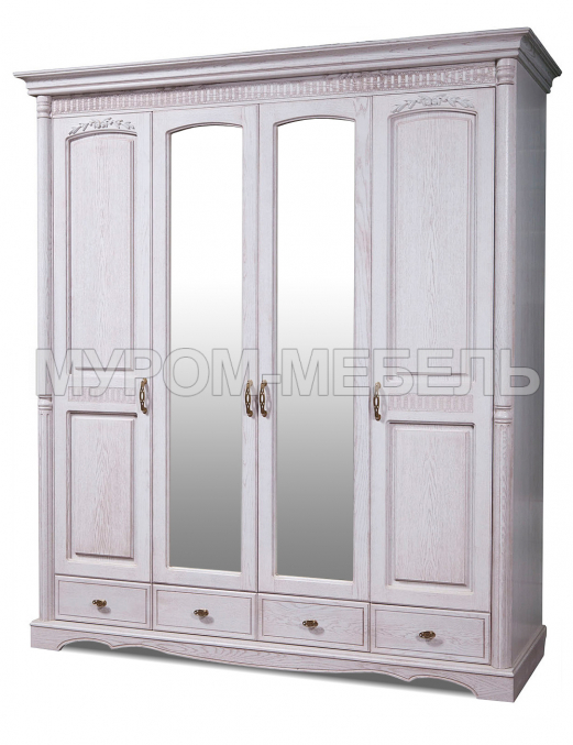 Здесь изображено Шкаф 4-х створчатый Валео