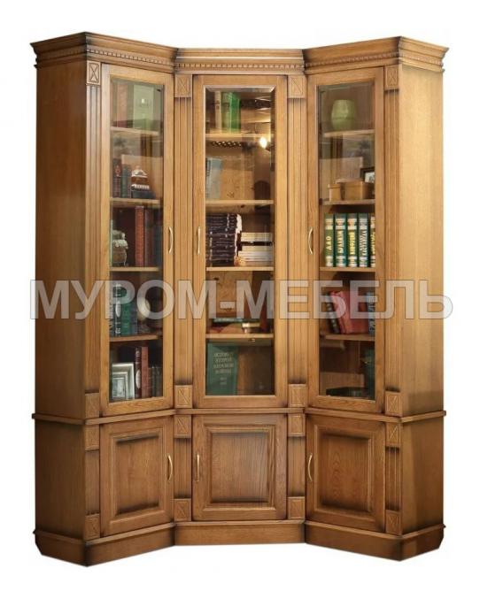 Здесь изображено Шкаф книжный угловой Флоренция 2