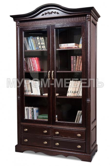Здесь изображено Шкаф книжный Валео с ящиками