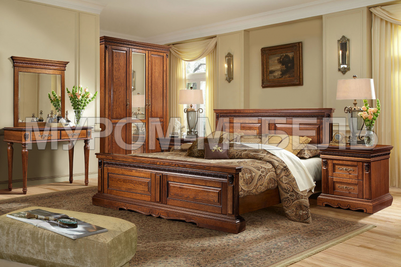 Здесь изображено Спальный гарнитур Милано 2