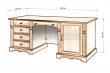 Здесь изображено Стол письменный Валео двухтумбовый