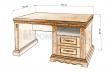 Здесь изображено Стол письменный Милано-2 однотумбовый
