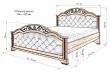 Здесь изображено Кровать Амелия LUX с мягкой вставкой