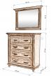 Здесь изображено Комод Мелиса 2 с зеркалом