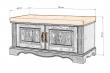 Здесь изображено Тумба-банкетка Валео