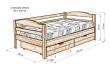Здесь изображено Кровать Детская с ящиками 2