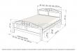 Здесь изображено Кровать Галатея (сосна, резьба береза)