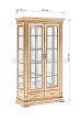 Здесь изображено Шкаф двойной Флоренция-1