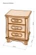 Здесь изображено Тумба прикроватная Стиль с 3 ящиками
