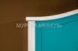 Здесь изображено Шкаф Прованс Скай (белая эмаль + бирюзовая эмаль RAL 5018)