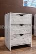 Здесь изображено Тумба Икеа 3 ящика (белая эмаль с чёрной патиной)