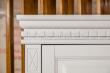 Здесь изображено Шкаф угловой Флоренция (белая эмаль)