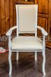 Здесь изображено Кресло Легранж (белая эмаль, береза)