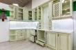 Здесь изображено Кухня Милена (фисташка с коричневой патиной)