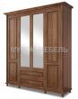 Здесь изображено Шкаф 4-х створчатый Мелиса