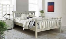 Здесь изображено Кровать Аристо из массива