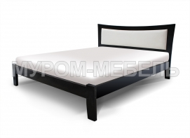 Здесь изображено Кровать Аврора с мягкой вставкой с ящиками