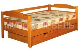 Здесь изображено Кровать Детская с ящиками 2 из массива