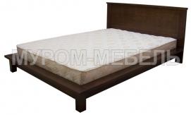 Здесь изображено Кровать Ева из массива