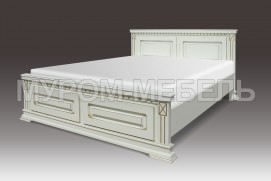 Здесь изображено Кровать Флоренция из массива