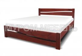 Здесь изображено Кровать Карина из массива