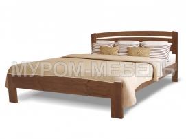 Здесь изображено Кровать Магнолия из массива