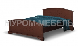 Здесь изображено Кровать Нова из массива