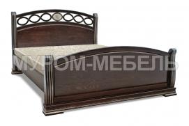 Здесь изображено Кровать Сиена из массива