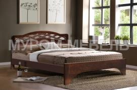 Здесь изображено Кровать Вирсавия из дуба с ящиками